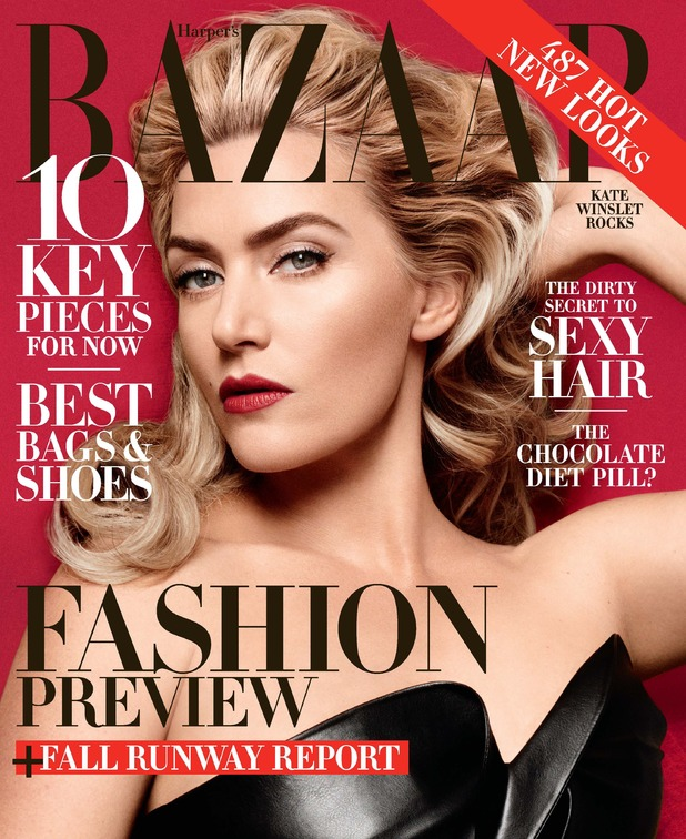 Kate Winslet on the June/July cover of Harper's Bazaar