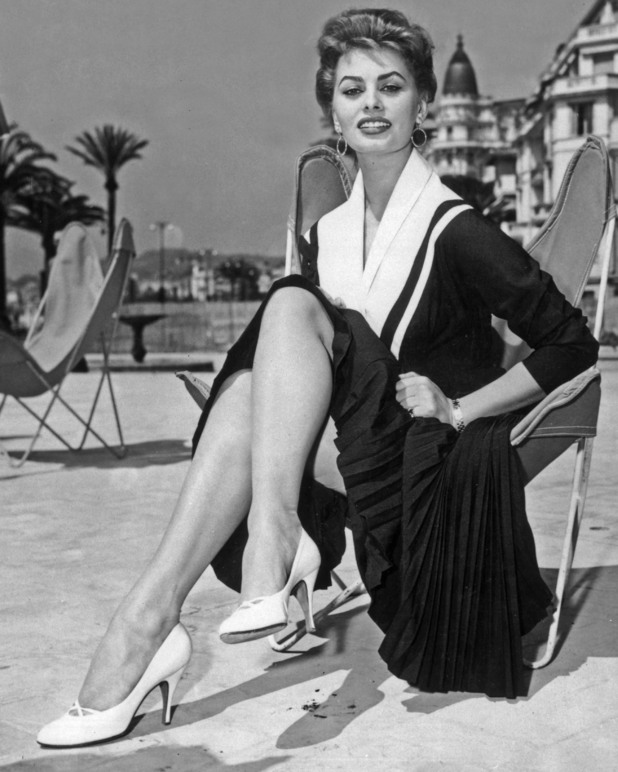 Italian actress Sophia Loren at the Cannes Film Festival, Cannes, France, 1954. (Photo by AGIP/RDA/Getty Images)