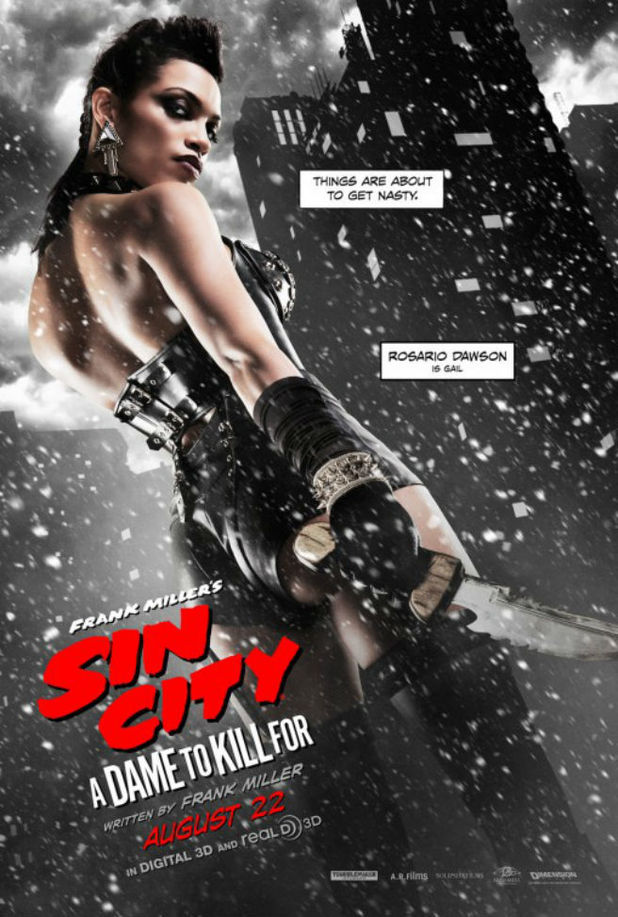 Rosario Dawson in Sin City: A Dame To Kill For character poster