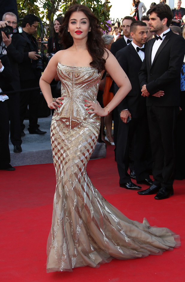 Aishwarya Rai attends 'Deux Jours, Une Nuit' premiere during the 67th Annual Cannes Film Festival