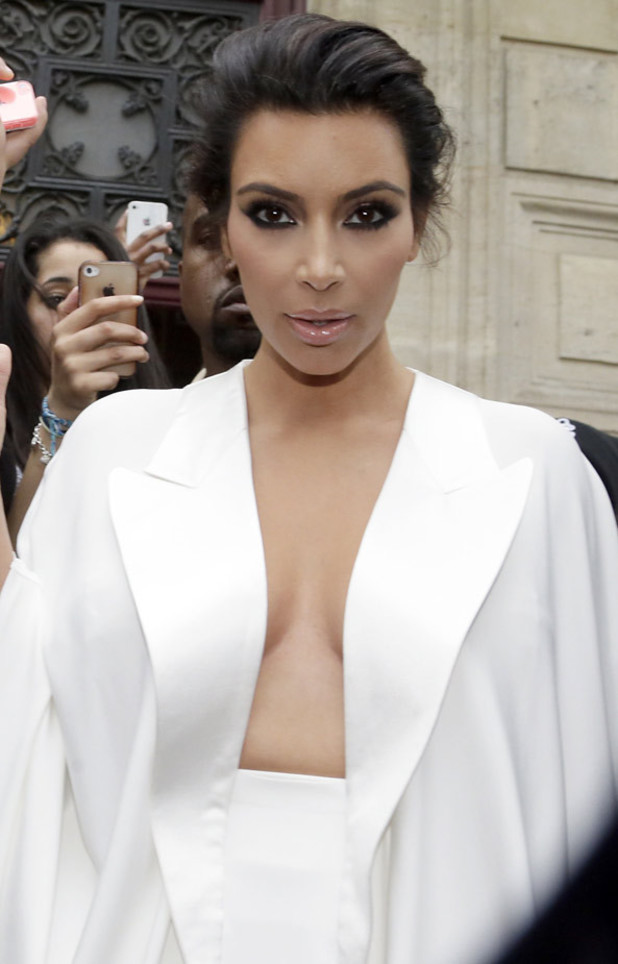 Kim Kardashian leaves her residence in Paris ahead of her wedding