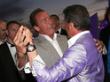 Arnold Schwarzenegger and Sylvester Stallone treat us to a waltz.