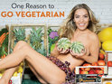 The star appears in new advert to coincide with National Vegetarian Week.