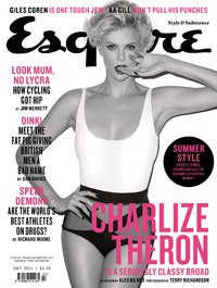 Charlize Theron on the cover of Esquire magazine