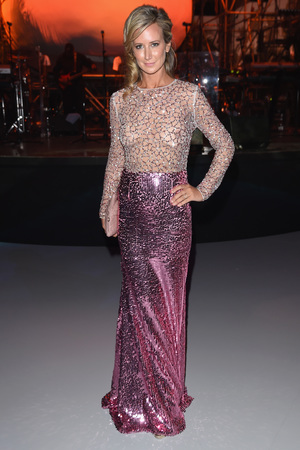 CANNES, FRANCE - MAY 19: EDITORS NOTE: Image contains nudity. Lady Victoria Hervey arrives to the Chopard Backstage Cocktail Afterparty at the Cannes-Mandelieu Aerodrome during the 67th Annual Cannes Film Festival on May 19, 2014 in Cannes, France. (Photo by Venturelli/French Select)