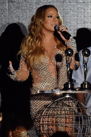MONTE-CARLO, MONACO - MAY 27: Mariah Carey receives a award during the ceremony of the World Music Awards 2014 at Sporting Monte-Carlo on May 27, 2014 in Monte-Carlo, Monaco. (Photo by Pascal Le Segretain/Getty Images)