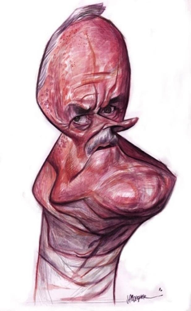 John Cleese caricature