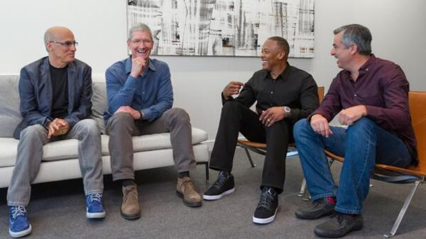 Tim Cook Dr Dre Beats Electronics Twitter picture