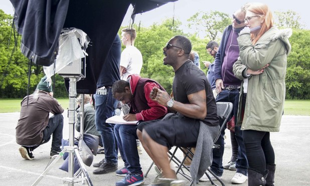 Idris Elba behind the scenes directing the R3HAB music video