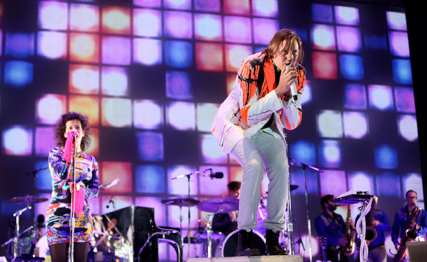 Arcade Fire perform on stage at Primavera Sound 2014 in Barcelona