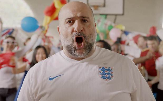Omid Djalili's World Cup Football Anthem video still