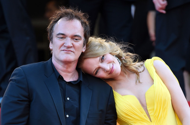 CANNES, FRANCE - MAY 23: Quentin Tarantino and Uma Thurman attend the 'Clouds Of Sils Maria' Premiere at the 67th Annual Cannes Film Festival on May 23, 2014 in Cannes, France. (Photo by Venturelli/WireImage)