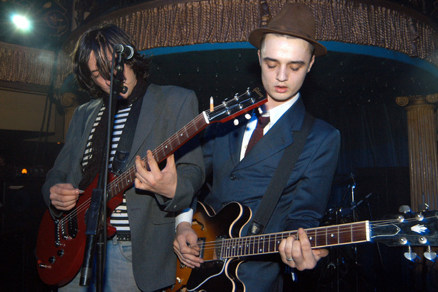 Pete Doherty of The Libertines performing at the John Richmond London Store Opening