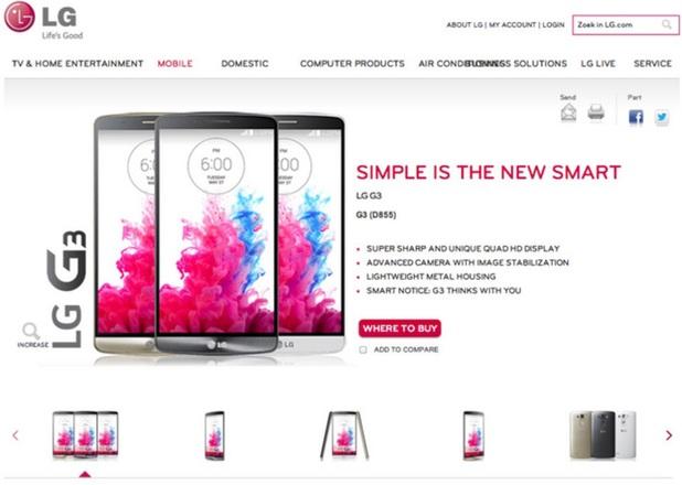 LG's G3 smartphone