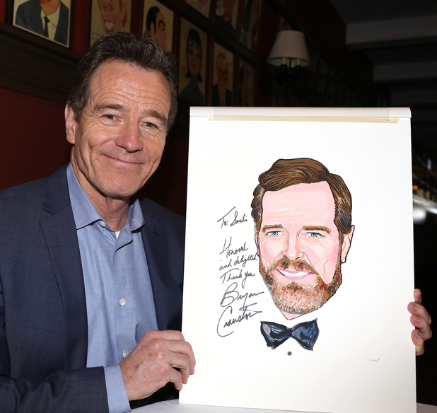 NEW YORK, NY - MAY 29: Bryan Cranston attends the Sardi's Caricature Unveiling for Bryan Cranston on May 29, 2014 in New York City. (Photo by Walter McBride/Getty Images)