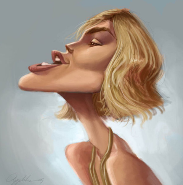 Keira Knightley caricature