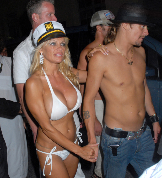 Rodriguez Group After Boat Party - July 29, 2006 Caption:Pamela Anderson and Kid Rock (Photo by Foc Kan/WireImage)