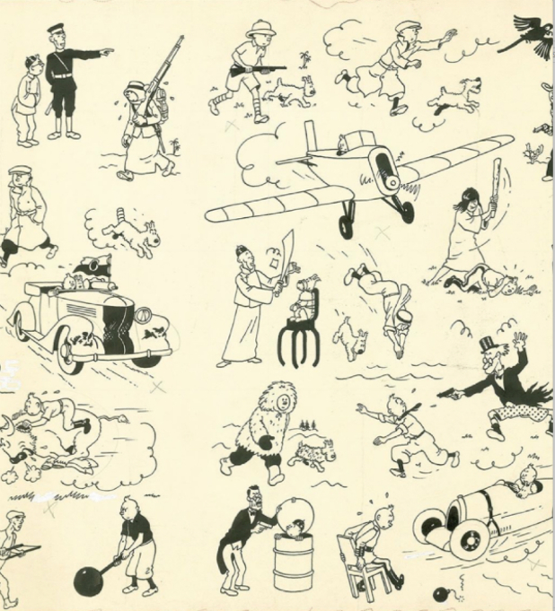 Tintin artwork recently sold for $2.9m in an auction
