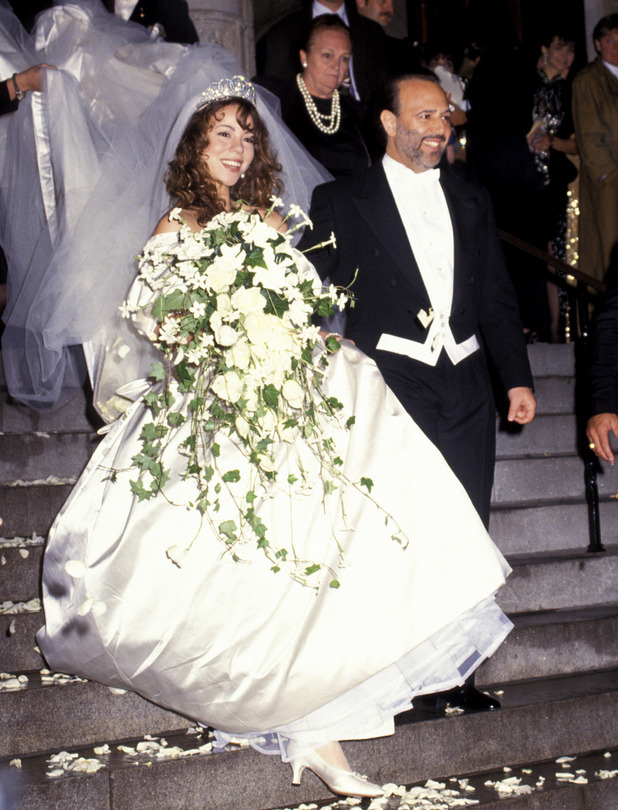 Mariah Carey, Tommy Mottola Mariah Carey and Tommy Mottola during Wedding of Mariah Carey and Tommy Mottola at St Thomas Episcopal Church/Metropolitan Club in New York City, NY, United States. (Photo by Ron Galella/WireImage)