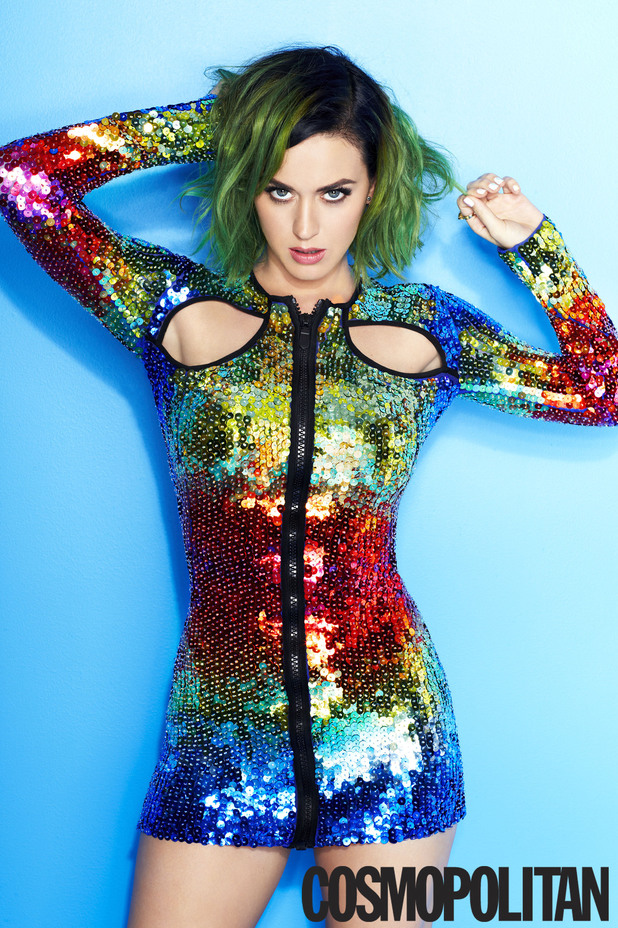 Katy Perry on the cover of Cosmopolitan July 2014