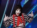 Nick Cannon pulls a prank on America's Got Talent with bizarre mime act.