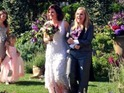 Melissa Etheridge shares picture from her and Linda Wallem's marriage ceremony.