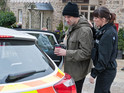 Sam is carted off to the police station in tonight's Emmerdale episode.