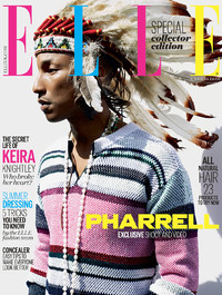 Pharrell Williams on Elle UK's July cover