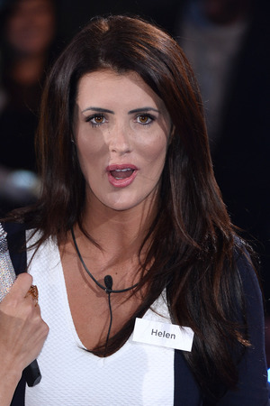 BOREHAMWOOD, ENGLAND - JUNE 05: Helen Wood enters the Big Brother house during the Big Brother : Power Trip Live Launch at Elstree Studios on June 5, 2014 in Borehamwood, England. (Photo by Karwai Tang/WireImage)