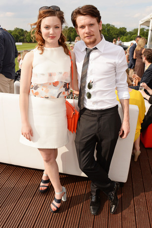 ASCOT, ENGLAND - JUNE 01: Holliday Grainger (L) and Jack O'Connell attend day two of the Audi Polo Challenge at Coworth Park Polo Club on June 1, 2014 in Ascot, England. (Photo by David M. Benett/Getty Images for Audi)