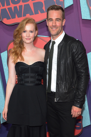 NASHVILLE, TN - JUNE 04: Kimberly Van Der Beek and James Van Der Beek attend the 2014 CMT Music awards at the Bridgestone Arena on June 4, 2014 in Nashville, Tennessee. (Photo by Michael Loccisano/Getty Images)