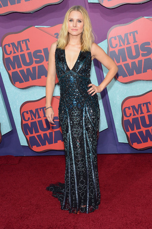 NASHVILLE, TN - JUNE 04: Actress Kristen Bell attends the 2014 CMT Music awards at the Bridgestone Arena on June 4, 2014 in Nashville, Tennessee. (Photo by Michael Loccisano/Getty Images)