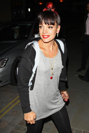 Celebrities at the Firehouse Club, London, Britain - 30 May 2014 Lily Allen Music, Female, Male, Not-Performing, With Others, Personality, Out & About Keywords