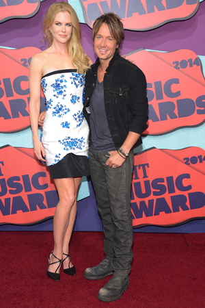NASHVILLE, TN - JUNE 04: Actress Nicole Kidman and Keith Urban attend the 2014 CMT Music awards at the Bridgestone Arena on June 4, 2014 in Nashville, Tennessee. (Photo by Michael Loccisano/Getty Images)