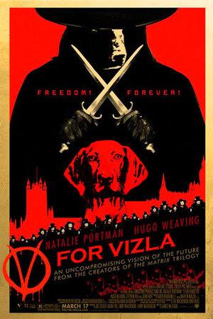 Dogs make movie posters better: V for Vendetta