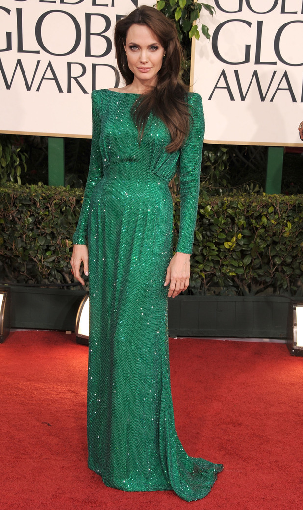 68th Annual Golden Globe Awards - Arrivals Caption:Actress Angelina Jolie arrives at the 68th Annual Golden Globe Awards held at The Beverly Hilton hotel on January 16, 2011 in Beverly Hills, California.
