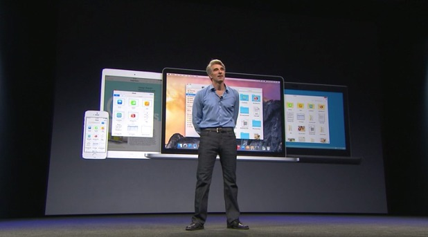 Craig Federighi during the Apple Worldwide Developers Conference