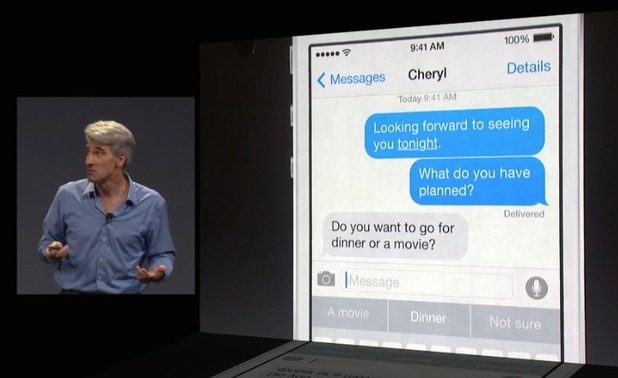 Apple WWDC 2014: iOS 8 demo - quicktype