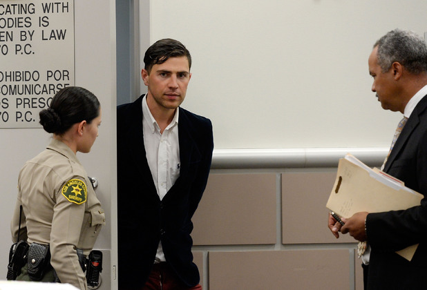 Vitalii Sediuk and lawyer Anthony Willoughby appear at Los Angeles Superior Court House