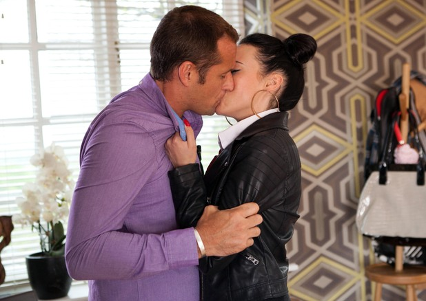 Sinead and Tony kiss