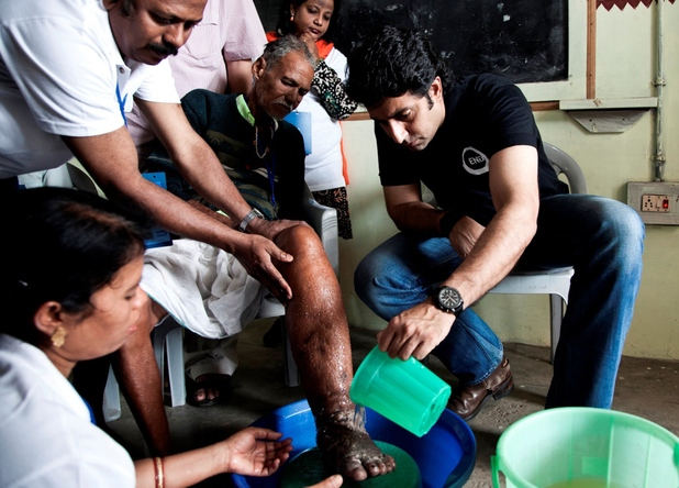 Abhishek Bachchan assisting in treatment of patients with neglected tropical diseases (NTDs) in India