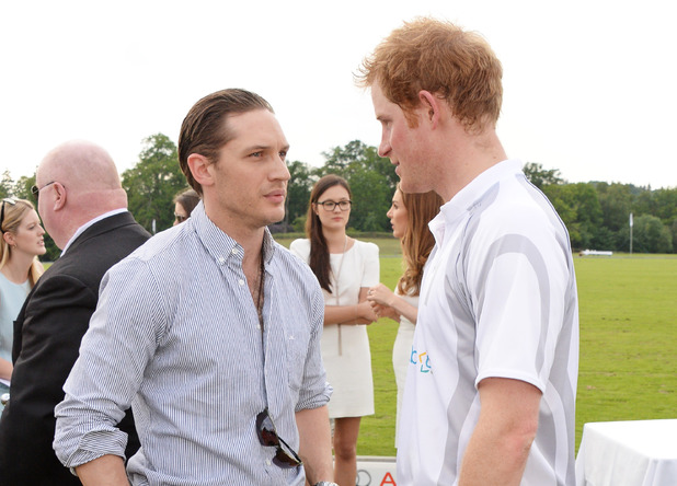 ASCOT, ENGLAND - JUNE 01: Tom Hardy (L) and Prince Harry attend day two of the Audi Polo Challenge at Coworth Park Polo Club on June 1, 2014 in Ascot, England. (Photo by David M. Benett/Getty Images for Audi)