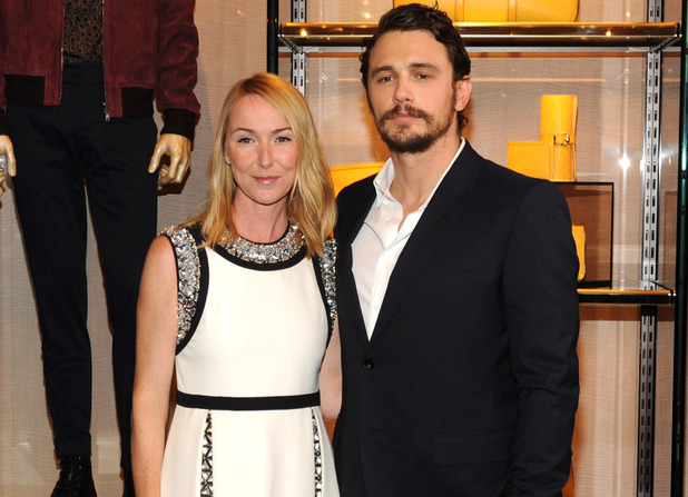 Caption:NEW YORK, NY - JUNE 03: Gucci Creative Director Frida Giannini and James Franco attend the CHIME FOR CHANGE One-Year Anniversary Event hosted by Gucci Creative Director Frida Giannini and T Magazine Editor-In-Chief Deborah Needleman at Gucci Fifth Avenue on June 3, 2014 in New York City. (Photo by Kevin Mazur /Chime For Change/Getty Images for Gucci/Getty Images for Gucci)