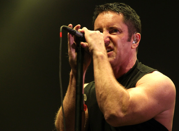 Trent Reznor of Nine Inch Nails performs