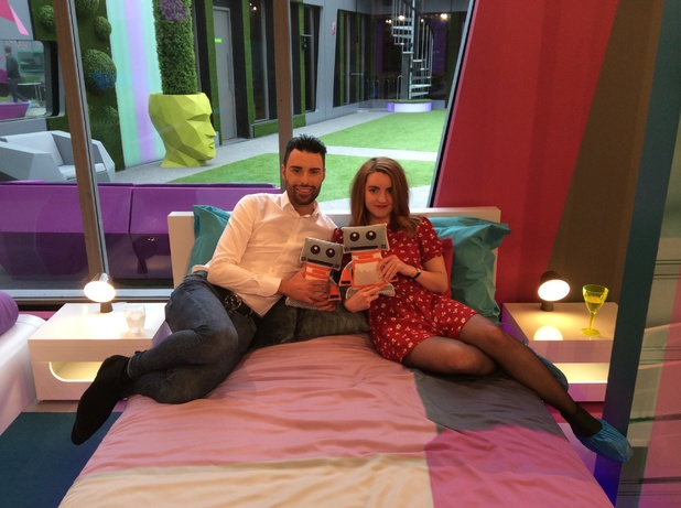 Digital Spy's Frances with Rylan Clark