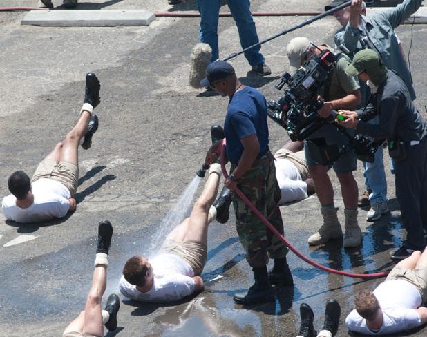 LOS ANGELES, CA - JUNE 04: Bradley Cooper on the set of 'American Sniper' in Malibu, California on June 04, 2014 in Los Angeles, California. (Photo by GONZALO/Bauer-Griffin/GC Images)