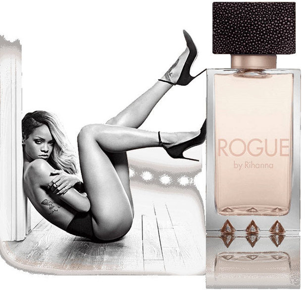 An advert for Rogue by Rihanna