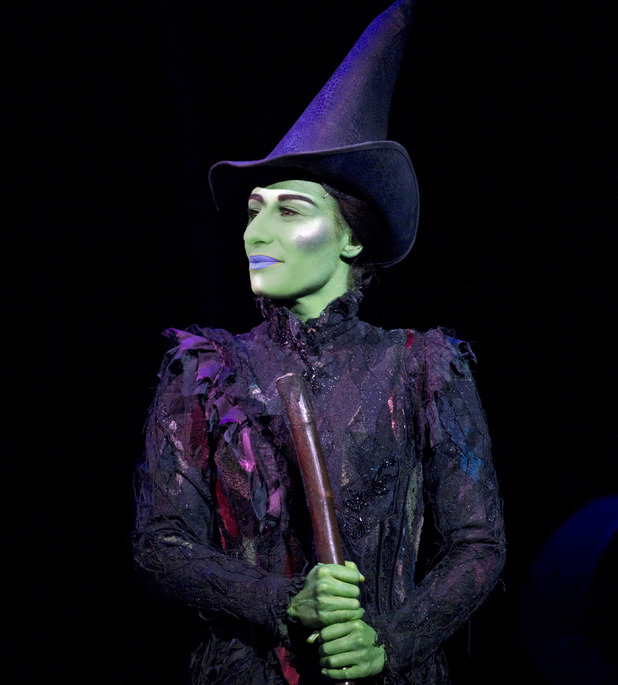 Lea Michele as Elphaba in Wicked