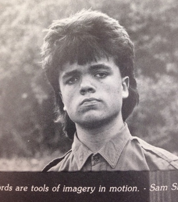 Peter Dinklage in his Delbarton School yearbook photo
