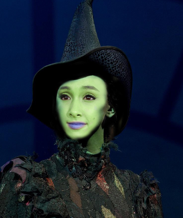 Ariana Grande as she would look as Elphaba in Wicked